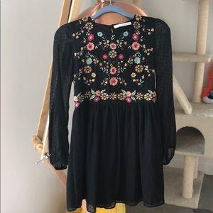 Zara ethnic little black dress